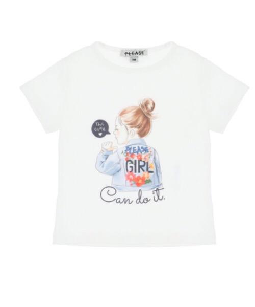T-shirt baby con stampa e scritte Please