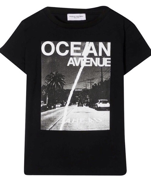 Paolo Pecora-t-shirt-bambino-nero-cotone