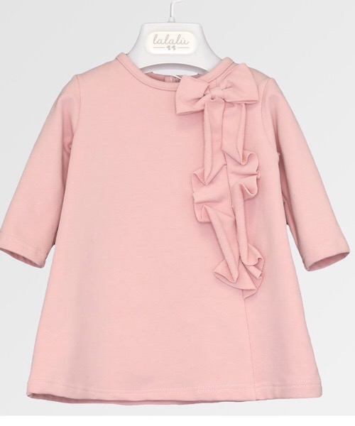 Vestitino neonato bambina Lalalù in felpa