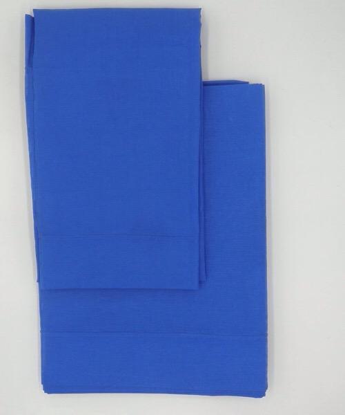 Completo letto Lenzuola 1 piazza Punto Ombra Blu di CASAMICA