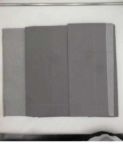 Completo letto 1 piazza bicolor grigio chiaro/grigio scuro in cotone di Datex trade
