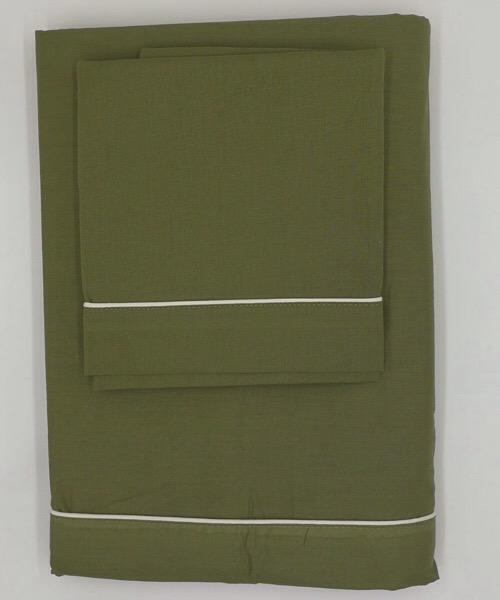 Completo letto 1 piazza e mezzo tinta unita Verde di Blanc Mariclò