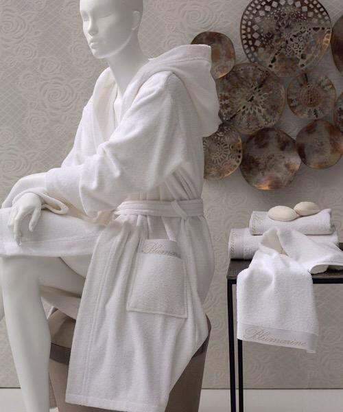 Accappatoio SPA con cappuccio Tg. L/XL bianco di Blumarine