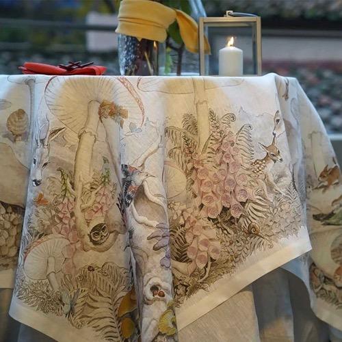 Tovaglia Brocelandia in lino 170 x 270