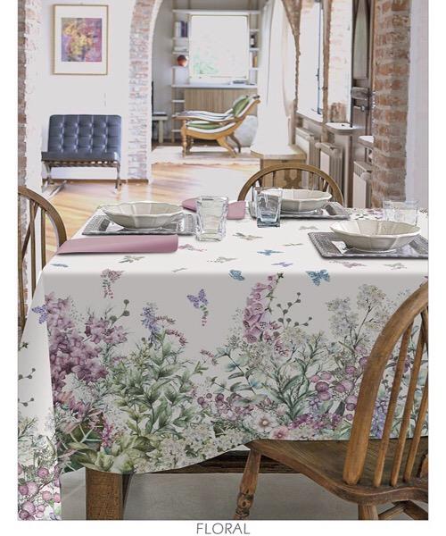 Tovaglia Floral in cotone 150 x 270