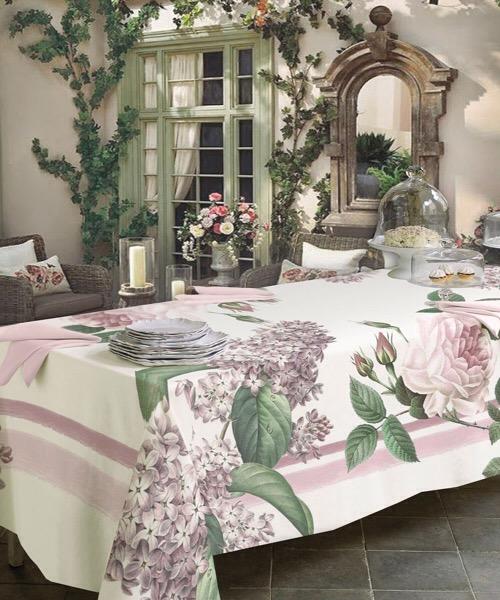Tovaglia Bloom Rosa 150 x 220 di Tessitura Randi