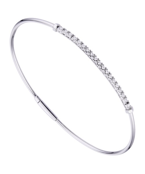BRACCIALE RIGIDO IN ORO BIANCO E DIAMANTI World Diamond Group