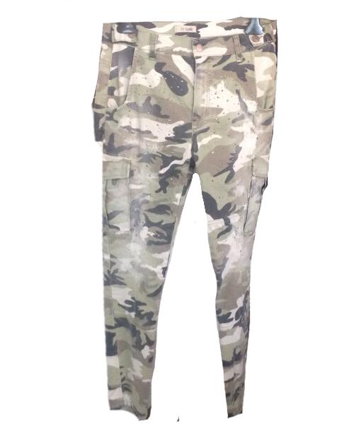 Pantalone tasche laterali borchiato Up Star