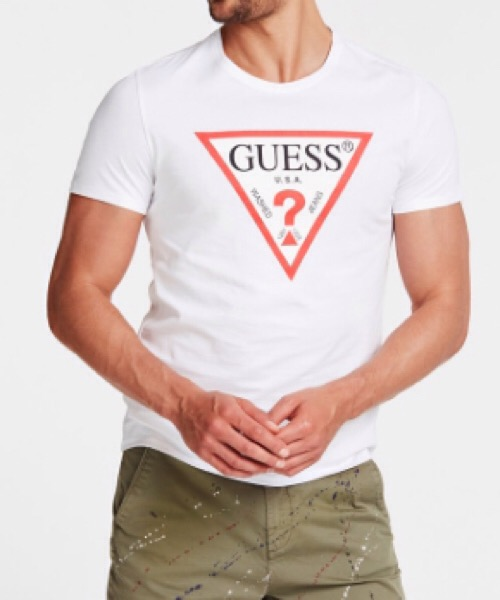 T-SHIRT TRIANGOLO LOGO Guess