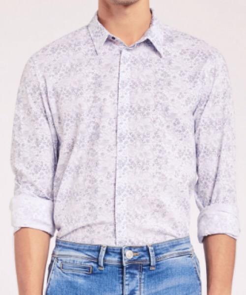 Camicia cotone floreale Gaudi