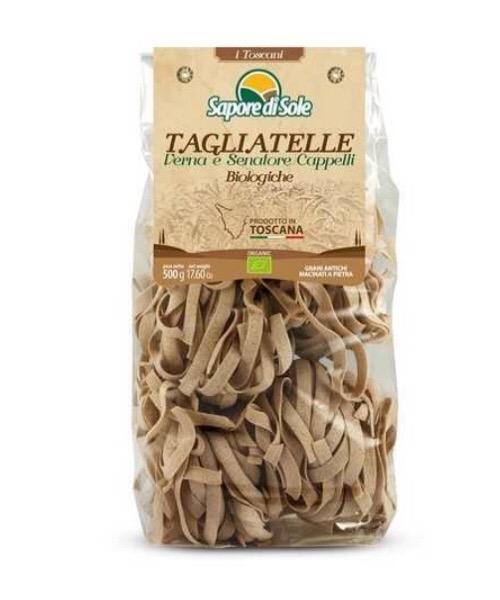 Pasta Tagliatelle Integrali Verna e Senatore Cappelli Artigianali di Grano Duro 500g BIO